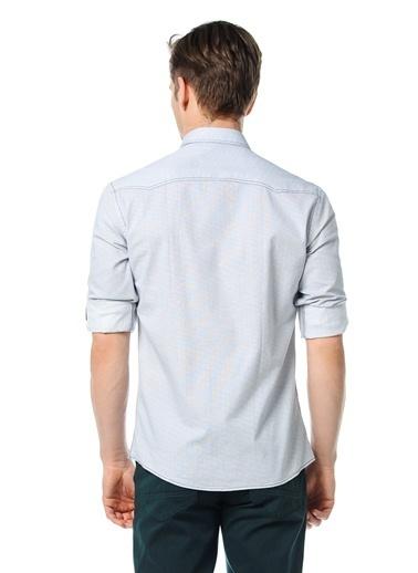 Wessi Uzun Kollu Slim Fit Gömlek Beyaz